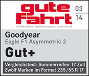 Goodyear Eagle F1 Asymmetric 2 - gut plus - Gute Fahrt 2014