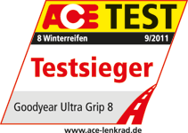 Goodyear UltraGrip 8 - Testsieger - ACE Test - 2011