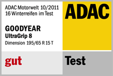 Goodyear UltraGrip 8 - Gut - ADAC - 2011