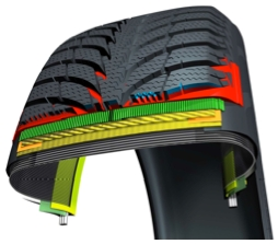 V-shaped tread