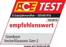 1x Ganzjahresreifen Goodyear Vector 4 Seasons G2 205//55R16 94V XL