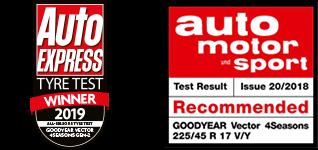 Goodyear Vector4Seasons první místo testech
