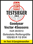 Goodyear Vector 4Seasons - Testsieger 2013 - Auto Bild 2013