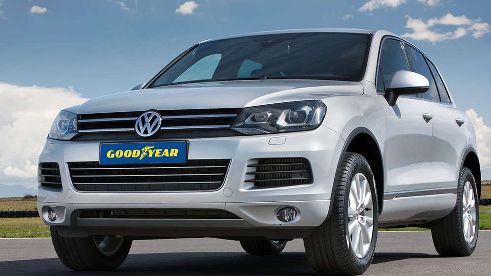 Volkswagen SUV car with Goodyear Tyres on
