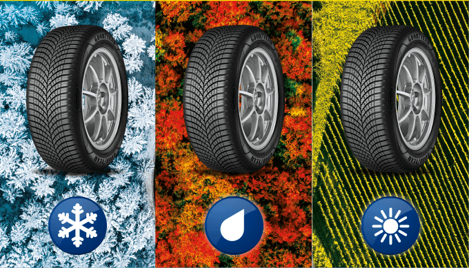 Goodyear Vector 4Seasons Gen-3 built for cold weather, rain or sunshine.