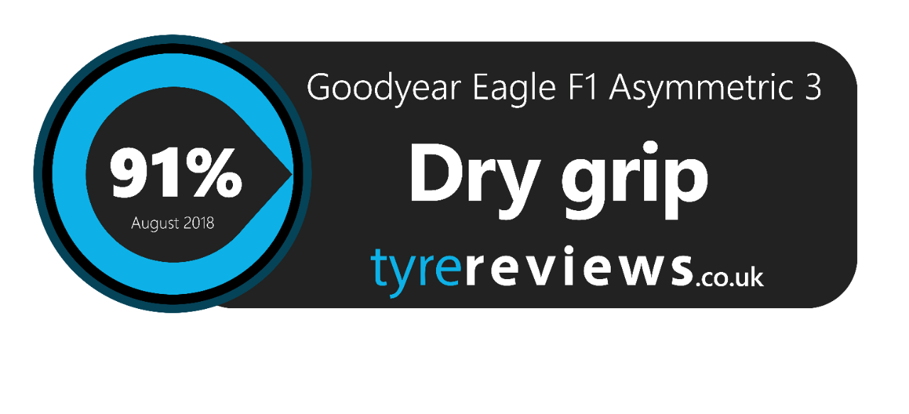 goodyear eagle f1 dry grip tyre reivew - 91%