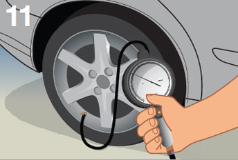 Keep your tires properly inflated