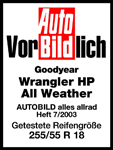 Goodyear Wrangler HP All Weather - Uitmuntend - Auto Bild Allrad - 2003