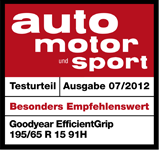 Goodyear EfficientGrip - Highly recommended - Auto Motor und Sport - 2012