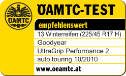 Goodyear UltraGrip Performance 2 — Polecana — ÖAMTC — 2010