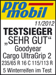 Goodyear Cargo UltraGrip 2 - TEST WINNER Very Good  - Promobil - 2012