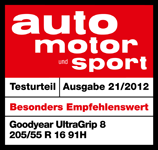 Goodyear UltraGrip 8 - Very Recommendable - Auto Motor und Sport - 2012