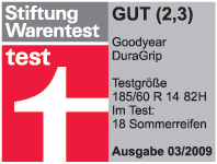 Goodyear DuraGrip - Good - Stiftung Warentest - 2009